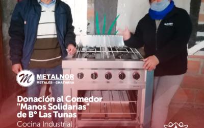 Donación al comedor «Manos Solidarias» de B° Las Tunas