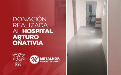 Metalnor Metales Chatarra colaboró con la ampliación del Hospital Arturo Oñativia