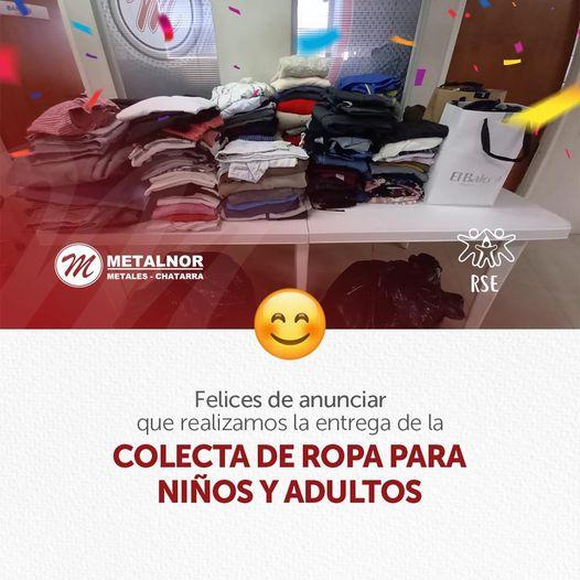 Colecta de ropa de abrigo para niños y adultos